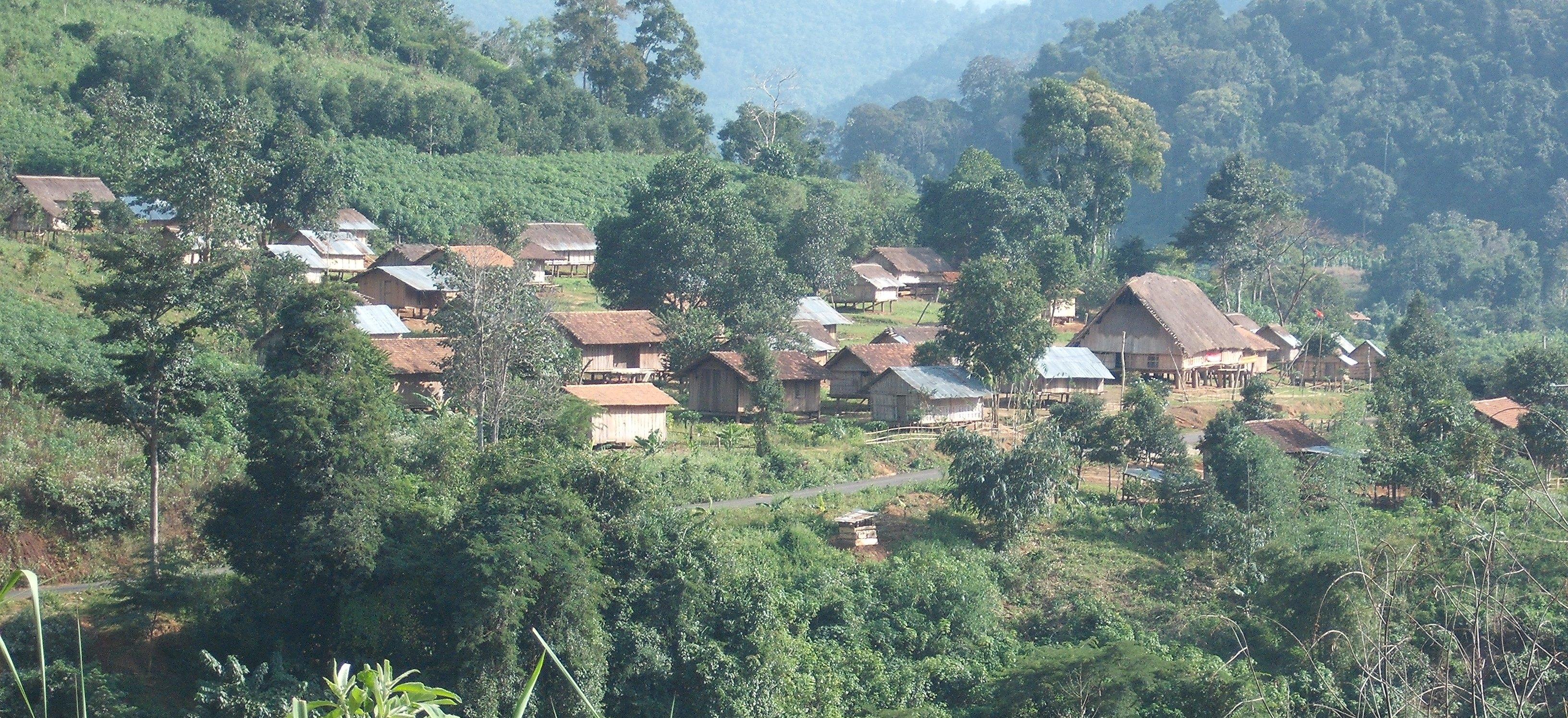 Village 90 km from Kontum-crop